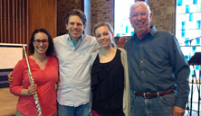 Melissa Wertheimer, Andrew Stewart, Annie Gill and Garth Baxter, May 17, 2017 at Goucher College after recording Two Last Songs and April Twilight.