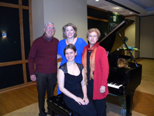 Garth Baxter with Laura Strickling, Liza Stepanova (seated) and Nancy Roldan, the president of the Baltimore-Washington chapter of the American Liszt society November 2, 2014 McDaniel College, Westminster, MD.