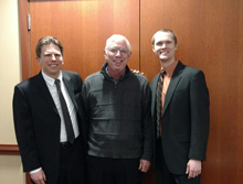 Garth Baxter  with  pianist Andrew Stewart  and Baritone Jason Buckwalter March 23, 2017 after a concert at Edenwald in Towson, Maryland.